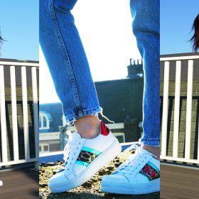 Zo draag je witte platform sneakers