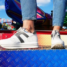 Musthave: witte platform sneakers