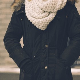 Dames lange gewatteerde jasseen