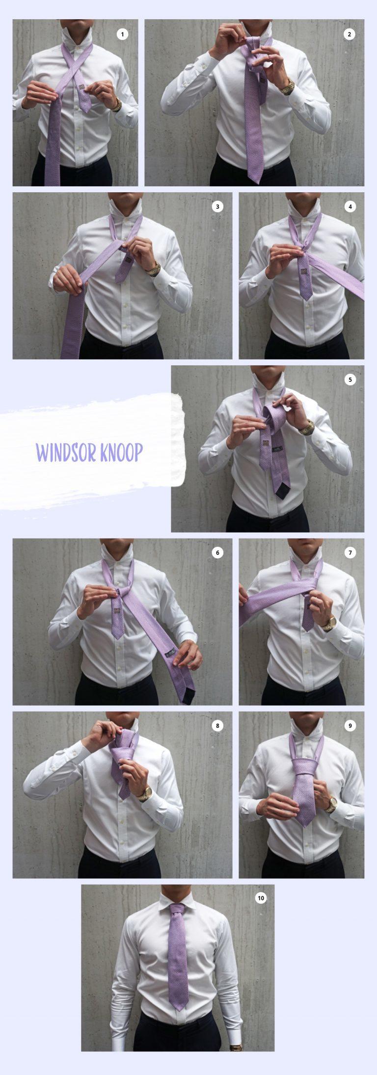 De windsor knoop: hoe strikken