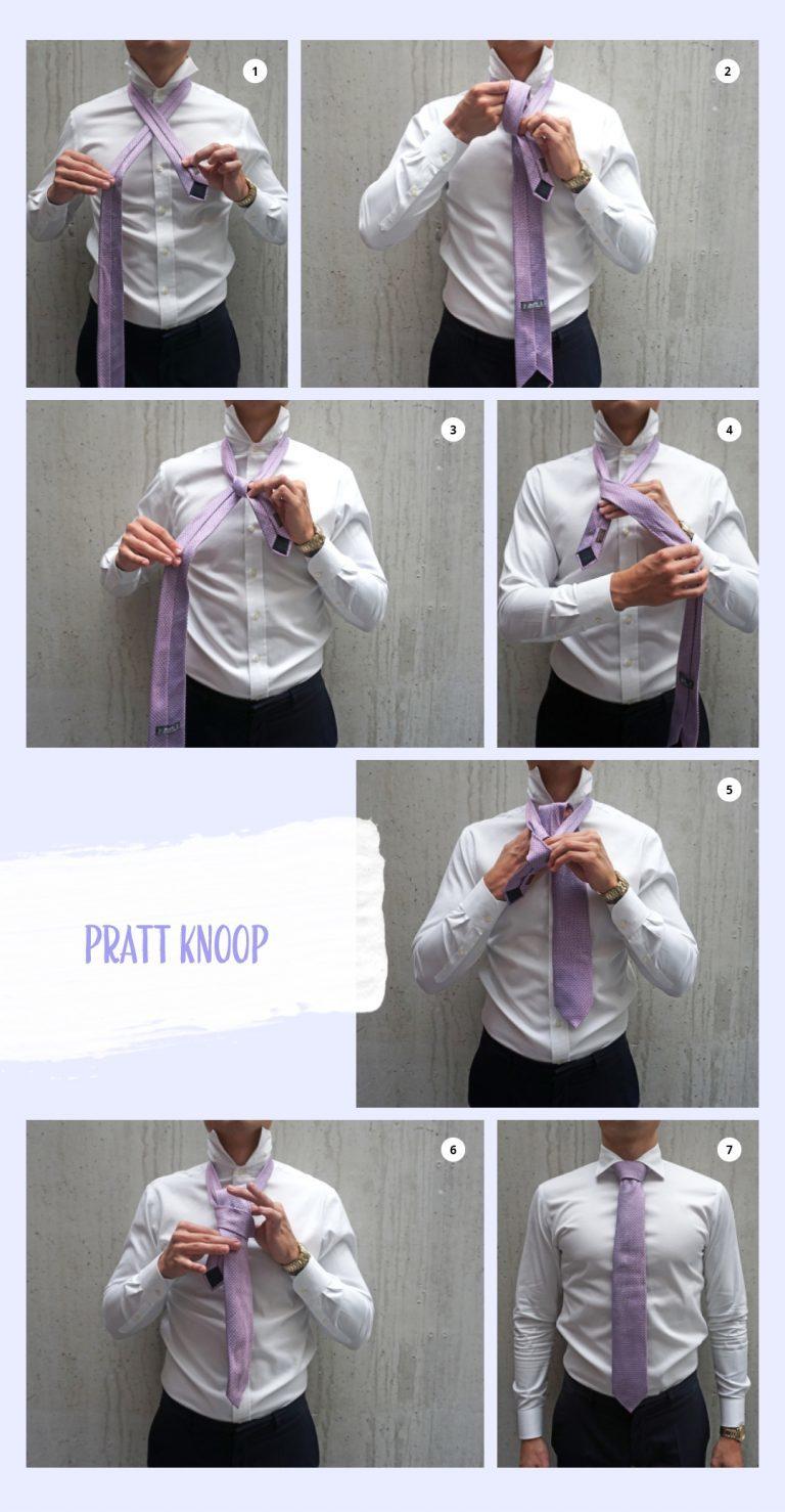 Pratt knoop: hoe strikken