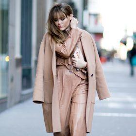 Camel coat oufit
