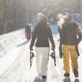 Trendy dames skikleding voor op wintersport