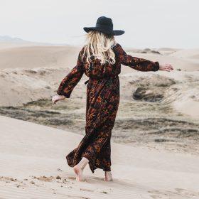 Zomerse maxi-jurken met een printje