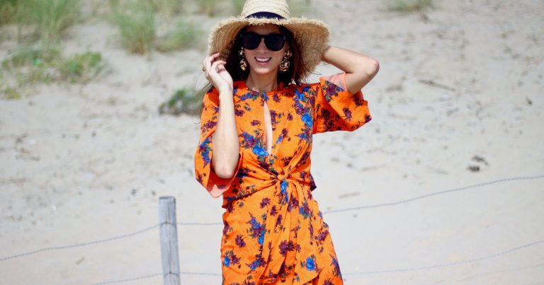 Marlieke van Cotton & Cream: zo draag je een oranje jurk