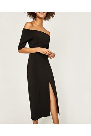 jurk met blote schouders