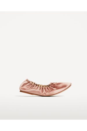 Dames Ballerina's - Zara SATIJNEN BALLERINA SOFT