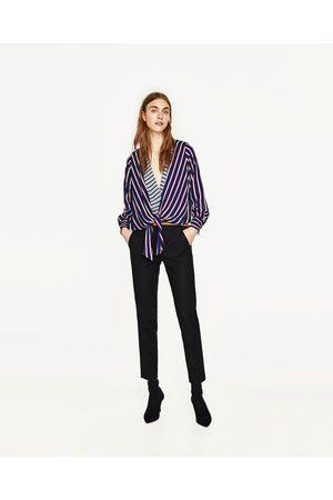 Dames Chino's - Zara CHINOBROEK MET RIEM - In meer kleuren beschikbaar