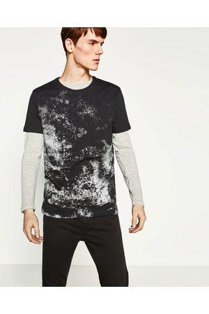 Heren Shirts - Zara ZILVERKLEURIG T-SHIRT - In meer kleuren beschikbaar