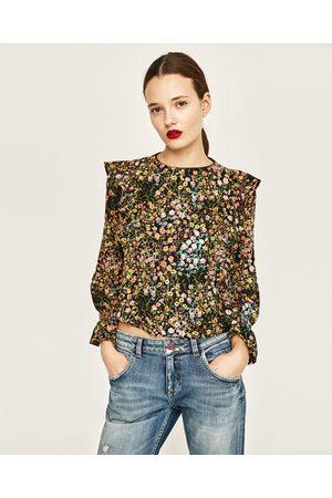 tijgerprint blouse zara