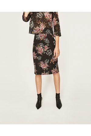 Dames Geprinte rokken - Zara GUIPURE ROK MET BLOEMENPRINT