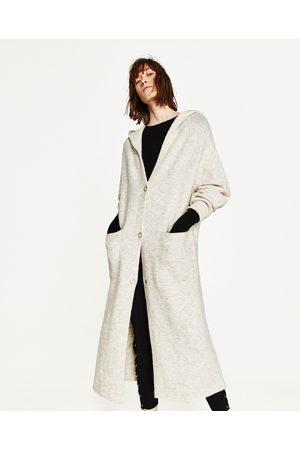 Dames Vesten - Zara LANG VEST MET CAPUCHON - In meer kleuren beschikbaar