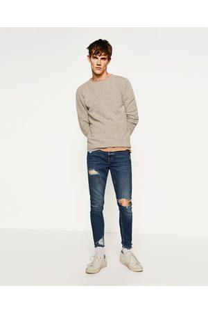 Heren Skinny - Zara SKINNY DENIM RAW EDGE - In meer kleuren beschikbaar