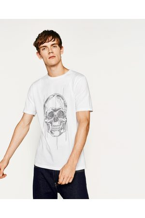 Heren Shirts - Zara T-SHIRT MET DOODSHOOFD - In meer kleuren beschikbaar