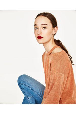 Dames Truien - Zara TRUI MET OPENGEWERKTE HALS - In meer kleuren beschikbaar