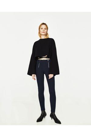 Dames Leggings & Treggings - Zara LEGGING MET RITSJES - In meer kleuren beschikbaar