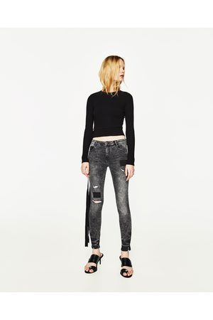 Dames Stretchbroeken - Zara DENIM BROEK MET EXTRA STRETCH EN SCHEUREN