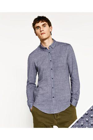 In Zara Beschikbaar Meer Kleuren Met Piqué Print Overhemd Heren Overhemden 5wFYqY