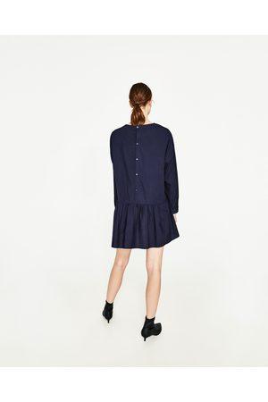 Dames Korte jurken - Zara KORTE POPELINE JURK