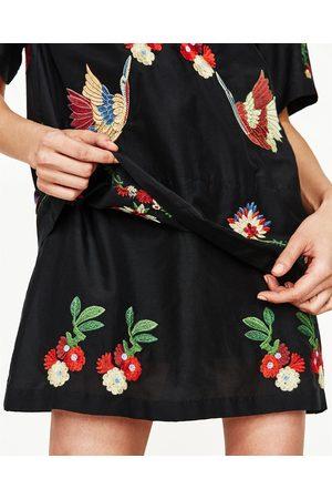 Dames Korte jurken - Zara KORTE JURK MET BORDUURSELS