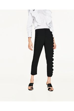 Dames Wijde broeken - Zara WIJDE BROEK MET VOLANT