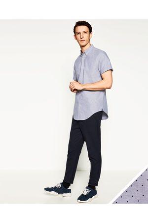 Heren Overhemden - Zara OXFORD OVERHEMD MET STIPPEN - In meer kleuren beschikbaar