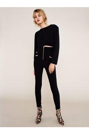Dames Leggings & Treggings - Zara LEGGING MET HOGE TAILLE EN RITSJES