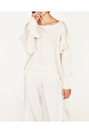 Dames Truien - Zara TRUI MET VOLANTS - In meer kleuren beschikbaar