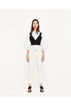 Dames Skinny - Zara SKINNY JEANS MET HALFHOGE TAILLE - In meer kleuren beschikbaar