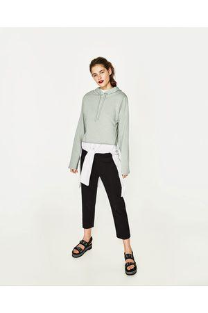 Dames Sweaters - Zara SWEATSHIRT MET SCHOUDERVULLINGEN