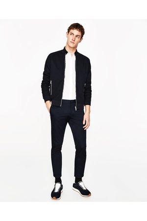 Heren Overhemden - Zara OVERHEMD MET GROSGRAIN KRAAG