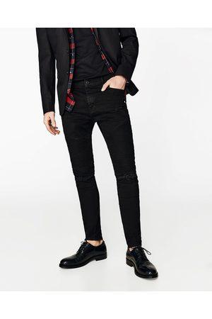 Heren Slim & Skinny broeken - Zara DENIM BIKERBROEK SLIM FIT