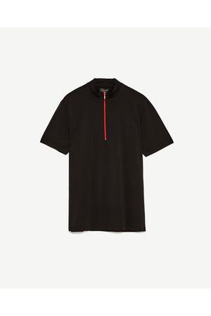 Heren Poloshirts - Zara POLO MET OPSTAANDE KRAAG EN RITS - In meer kleuren beschikbaar