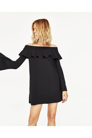 97a3ee959d8da1 Zara jurk blote schouders dames Jurken