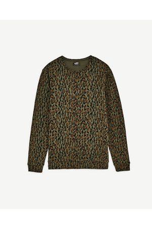 Heren Sweaters - Zara SWEATSHIRT MET DIERENPRINT