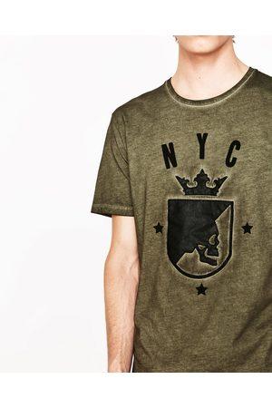 Heren Shirts - Zara T-SHIRT MET DOODSHOOFD IN HET WAPEN - In meer kleuren beschikbaar