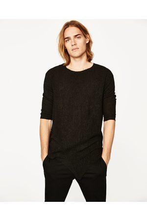 Heren Shirts - Zara GETEXTUREERD DARK T-SHIRT