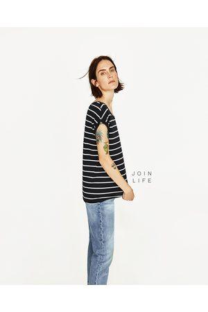 Dames Shirts - Zara T-SHIRT MET KORTE MOUWEN JOIN LIFE - In meer kleuren beschikbaar