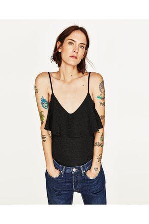 Dames Body's - Zara GLANZENDE BODY MET SPAGHETTIBANDJES - In meer kleuren beschikbaar