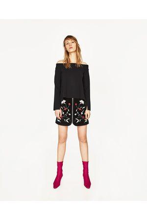Dames Strapless tops - Zara STRAPLESS TOP MET OPENING OP DE RUG