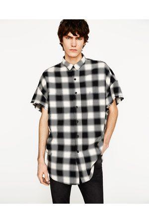Heren Overhemden - Zara OVERSIZED GERUIT OVERHEMD - In meer kleuren beschikbaar