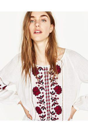 Dames Tops & Shirts - Zara GEBORDUURDE TOP