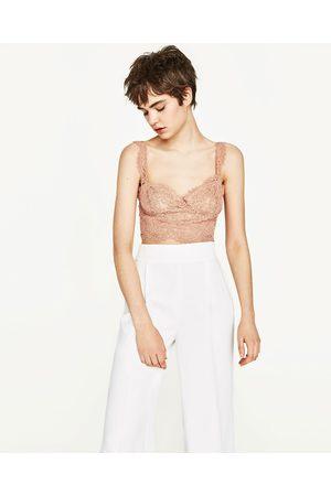Dames Bh's zonder beugel - Zara BRALETTE VAN KANT - In meer kleuren beschikbaar