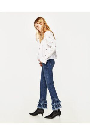 Dames Slim - Zara JEANS IN SLIM FIT MET HALFHOGE TAILLE