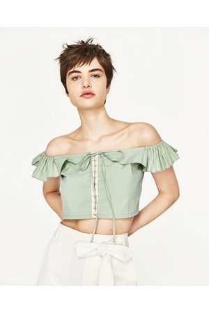 Dames Tops & Shirts - Zara TOP MET VOLANT