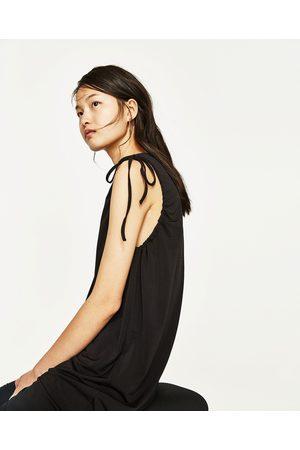 Dames Asymmetrische jurken - Zara ASYMMETRISCHE JURK MET PLOOIACCENT