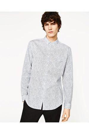 Heren Overhemden - Zara OVERHEMD MET GEOMETRISCHE PRINT