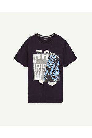 Heren Shirts - Zara T-SHIRT MET PRINT - In meer kleuren beschikbaar