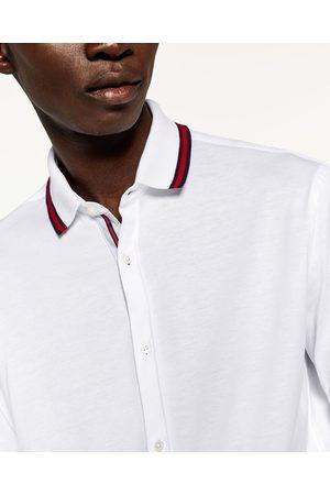 Heren Overhemden - Zara OVERHEMD MET POLOKRAAG