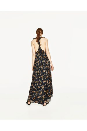 5c3c28169865e5 Dames Jurken - Zara LONG STRAPPY DRESS WITH FRILL